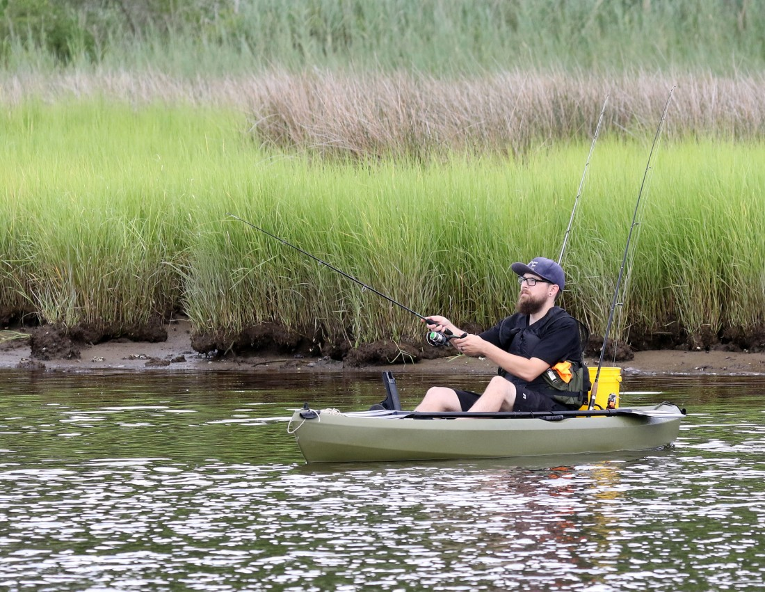 kayaker fishing
