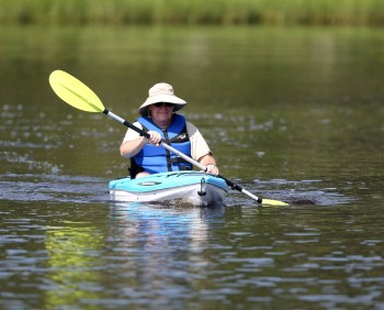 Kayaker on the Elizabeth River