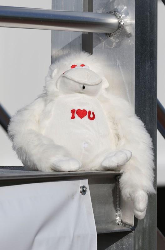 """Stuffed """"I love you"""" monkey"""