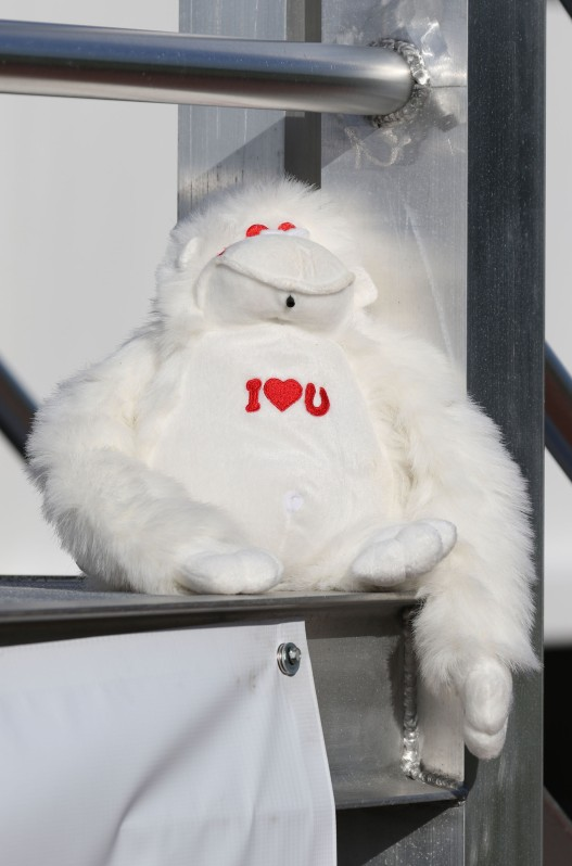 "Stuffed ""I love you"" monkey"