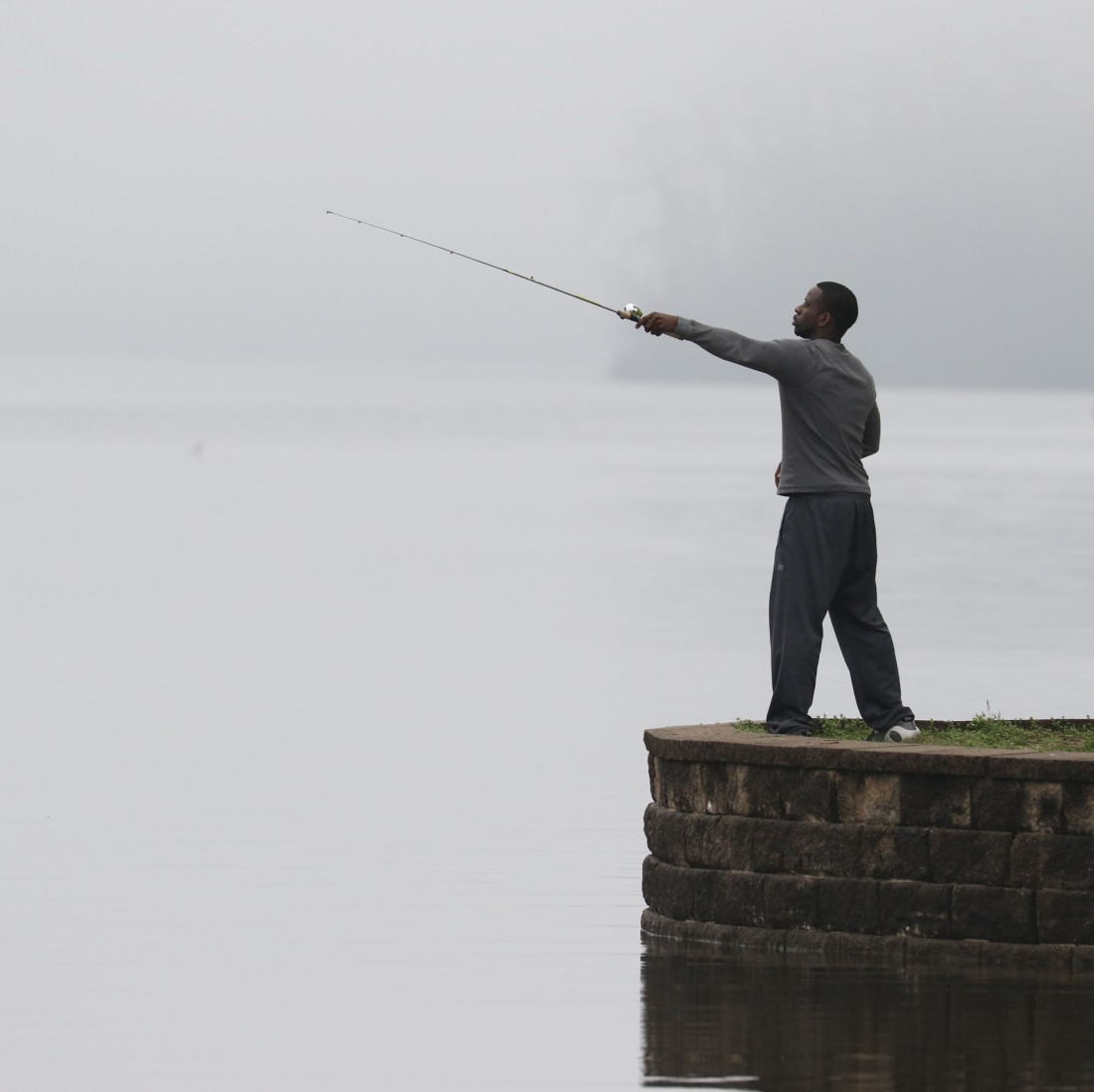 A gentleman fishing