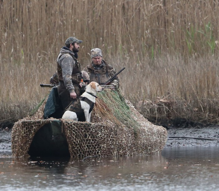 Waterfowl hunting party