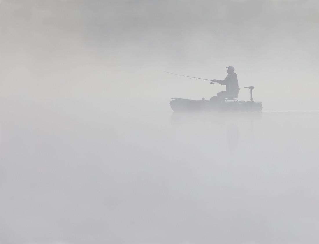 Fisherman on Pinchot Lake